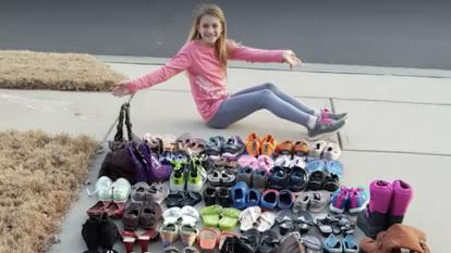 Meet the girl donating shoes to the homeless.
