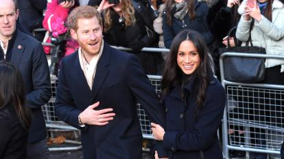 Prince Harry and Meghan Markle step out in public.