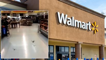 Dozens of bats were spotted flying around a Texas Walmart.