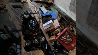An Idaho family made an unsettling discovery when the floor of their garage collapsed, exposing a hidden, underground room.