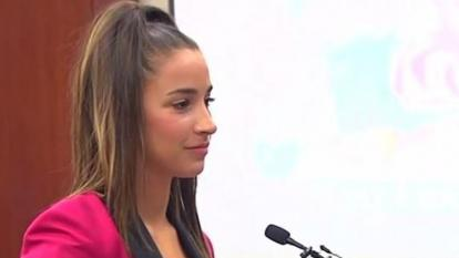Aly Raisman faced her abuser in court Friday.