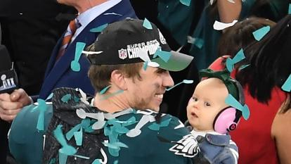 Lily Foles with her dad Nick Foles