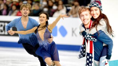 Team USA ice dancers Madison Chock and Evan Bates head off to the 2018 Winter Olympics as a couple.