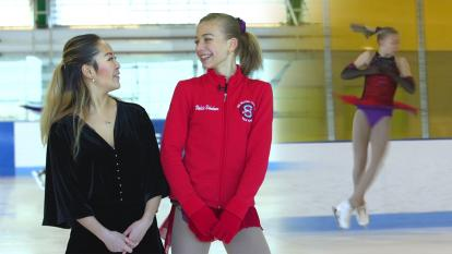 13-year-old Violeta Ushakova talks to InsideEdition.com about everything it takes to become a figure skater.