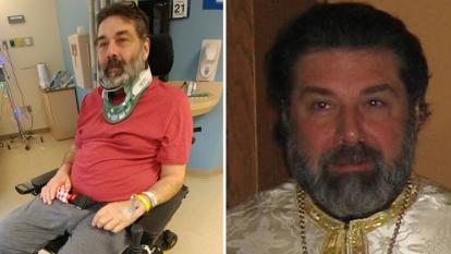 Father Dimitrie Vincent, who was paralyzed in an ice hockey accident, has made an astounding recovery after seeing his community rally to show support in a way he said is proof miracles occur.
