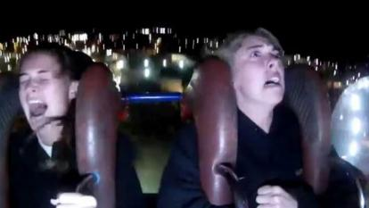 Young woman blows a gasket on fair ride, internet cracks up.