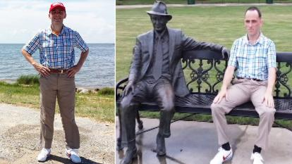 Rob Pope is recreating the fictional route Forrest Gump took in the movie.