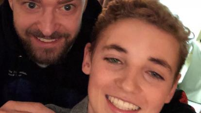 "The ""Selfie Kid"" is at it again with his latest picture with Justin Timberlake."