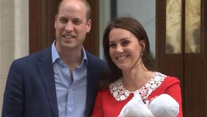 Prince William and Kate Middleton appear in public, just hours after welcoming their newborn.
