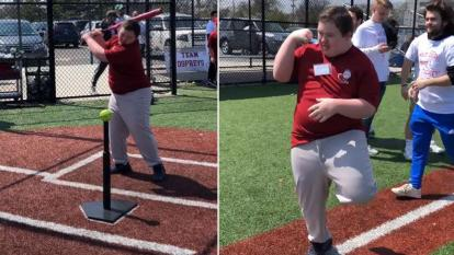 Boy with Down Syndrome Struts His Stuff After Scoring Home Run