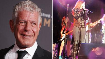 Anthony Bourdain's 11-year-old daughter kept her father close as she took to the stage in a performance days after the acclaimed writer and chef took his life.