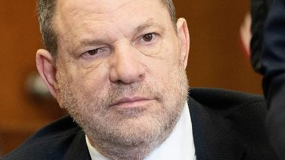 Harvey Weinstein at his arraignment
