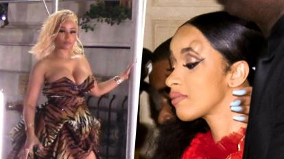 Cardi B and Nicki Minaj get into an ugly fight during the Harper's Bazaar ICONS Fashion Week party.