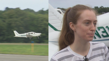 Maggie Taraska, 17, marked her return to the air just days after successfully landing a plane that lost a wheel during her first solo flight.