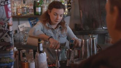 A federal worker in Washington, D.C. is making money as a bartender.