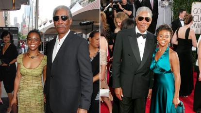 Morgan Freeman's granddaughter often accompanied him on the red carpet.