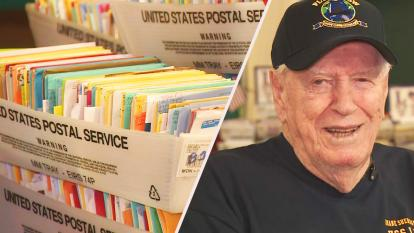Veteran receives birthday cards from strangers