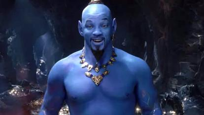 "Disney just dropped a new trailer for the live-action version of ""Aladdin,"" offering the first glimpse of Will Smith's very blue Genie, and some fans aren't pleased."