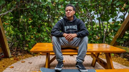 Zachary Cruz is focused on healing a year after his brother allegedly killed 17 people at Marjory Stoneman Douglas High School.