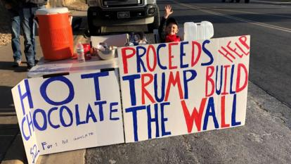 Benton Stevens has raised more than $8,000 for President Trump's border wall.