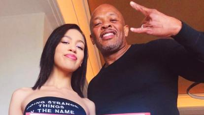 Dr. Dre and his daughter