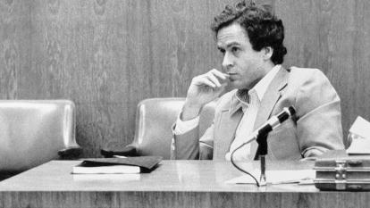 Ted Bundy is seen here in court.