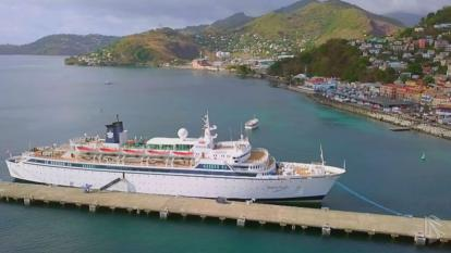 A Scientology promotional video claims Freewinds has all the amenities of a first-class cruise ship, including five-star gourmet cuisine.