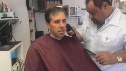 Presidential hopeful Beto O'Rourke livestreamed his haircut Wednesday, grossing everyone out by talking about his ear hair at length.
