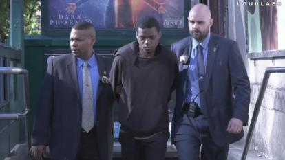 Isaiah Thompson is arrested in New York City.