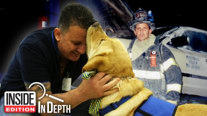 9/11 Firefighter and his service dog