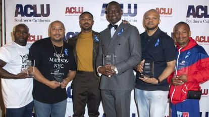Central Park Five Presented With Award From ACLU and Michael B. Jordan