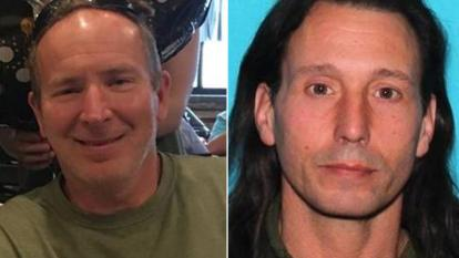 John Bishop (left) was driving down I-295 when he saw a man, identified by police as Donald Cramer Jr. (right) dragging a woman into a wooded area off the side of the New Jersey highway, police said.