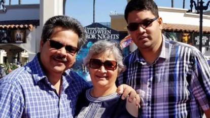 Russell, Paola and Kenneth French are pictured here. Kenneth was killed at a Costco Friday, while his parents were injured.