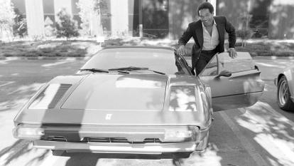 O.J. Simpson is pictured posing with his Ferrari in 1979.
