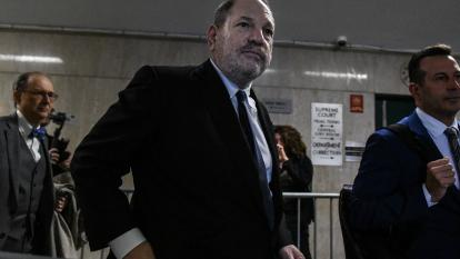 Harvey Weinstein is pictured here walking out of court in New York City in April 2019.