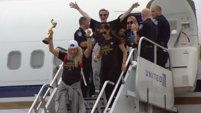 "The ladies are reportedly in a state of exhaustion and are expected to rest up in the hotel until Wednesday morning for the big ticker tape parade down the ""Canyon of Heroes,"" as it is known."
