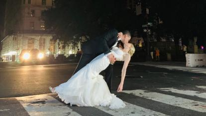 This couple got married during the blackout that swept Midtown Manhattan on Saturday.