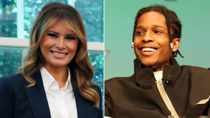 "First Lady Melania Trump expressed her concern for rapper ASAP Rocky, who is being detained in Sweden, saying, ""We hope to get him home soon."""