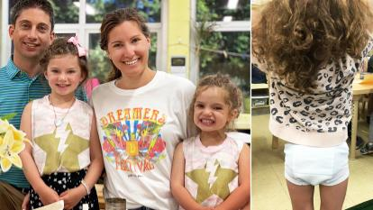 3-year-old Brooklyn ended up wearing her underwear to class.