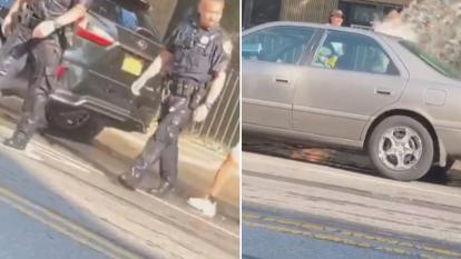 During the heat wave in New York City over the weekend, two cops were filmed getting repeatedly doused and mocked in Brooklyn as well and also did not do anything.