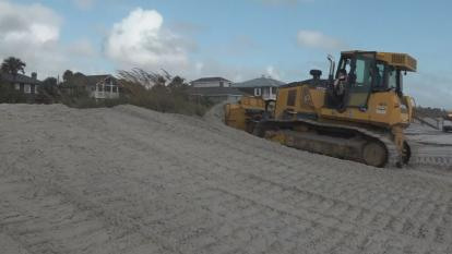 A whole entire dune is protecting the people who live on the waterfront of Jacksonville, the hotels, the restaurants and the multi-million-dollar homes in the path of the hurricane.