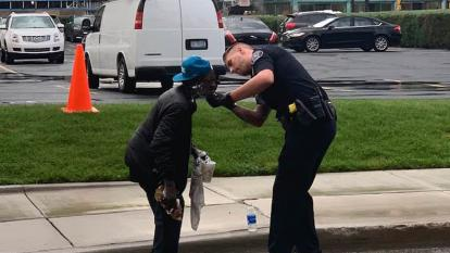 The Detroit Police officer just wanted to help.