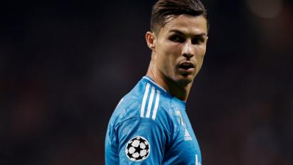 Cristano Ronaldo during a Champions League match with Juventus against Atletico Madrid.