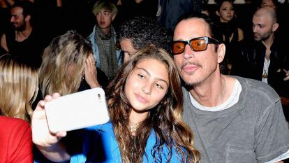 Chris Cornell and his daughter, Toni, in 2016.