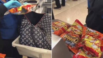 Emily Mei packed bag upon bag of Cheetos in her carry-on.