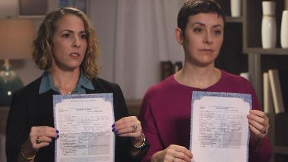 Two women who want Dr. Hadden's name removed from their childrens' birth certificates