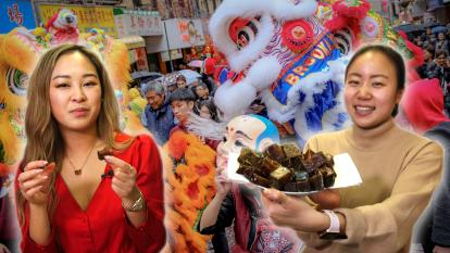 What foods are typically eaten during Chinese New Year? InsideEdition.com's Johanna Li and her friend Marcia Hu meet in the Flushing neighborhood of New York City to learn more about different celebrations.