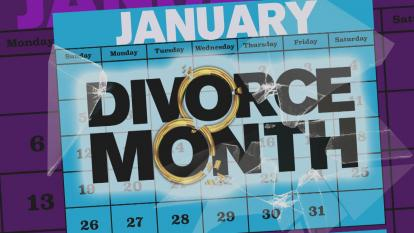 We all know January is the most popular month for people who want to lose weight, but the start of the new year is also synonymous with the loss of something else: spouses.