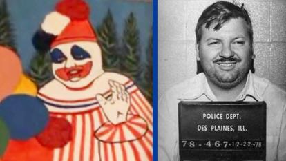 Serial killer John Wayne Gacy painted clown faces.