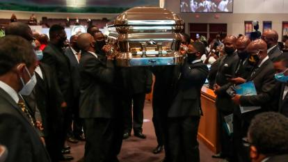George Floyd coffin carried